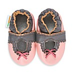 MomoBaby Soft Sole Lacey Mary Janes in Pink