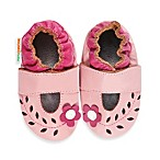 MomoBaby Soft Sole Cut Out Flower Leather Mary Janes in Pink