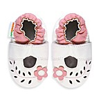 MomoBaby Soft Sole Cut Out Flower Leather Mary Janes in White