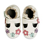MomoBaby Daisy Butterfly Leather Soft Sole Mary Jane in White