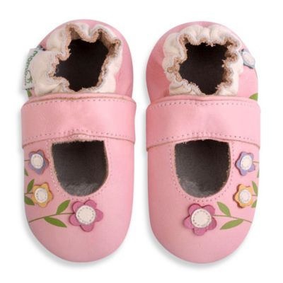 MomoBaby Size 18 - 24M Lilies Leather Soft Sole Mary Jane in Pink