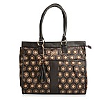 AD Sutton Brown Geo Print Diaper Tote