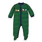 Gerber® Lamaze® Sleep and Play Size 6-9 Months Cars 1-Piece Footie in Green Stripe