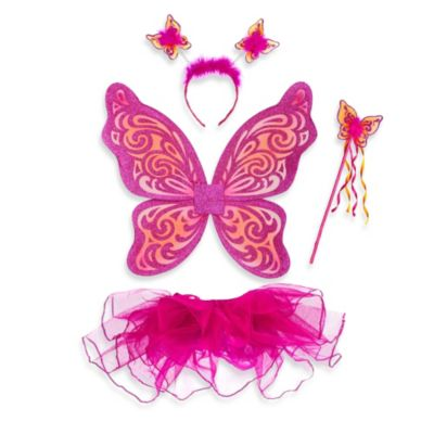 Just Pretend® The Nina Collection Medium (4T-5T) Tutu and Wing Set in Fuchsia