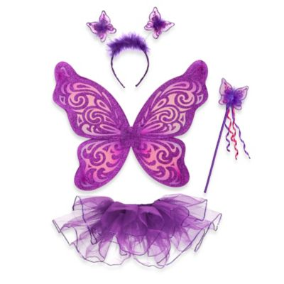 Just Pretend® The Nina Collection Dress Up Medium (4T-5T) Tutu 4-Piece Set in Purple