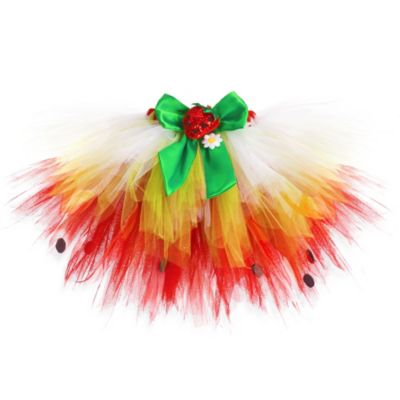 Just Pretend® The Strawberry Collection Small (2T-3T) Tutu in Red/Lime/White