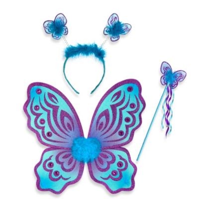 Just Pretend® The Butterfly Collection 3-Piece Dress Up Set in Purple/Turquoise