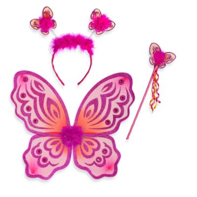 Just Pretend® The Butterfly Collection 3-Piece Dress Up Set in Fuchsia/Orange