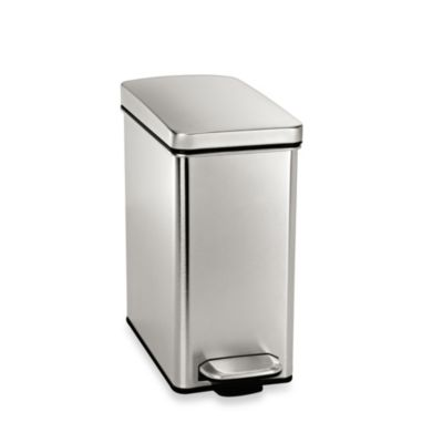 simplehuman 10 liter profile step trash can