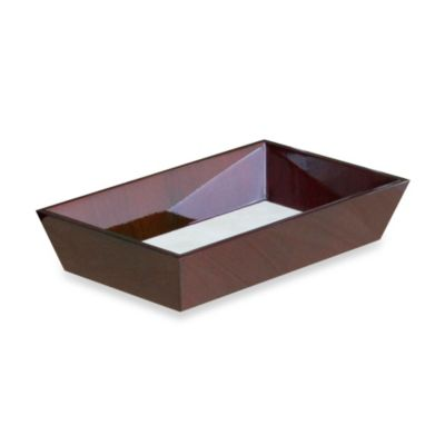 Walden Polished Wood Guest Towel Tray