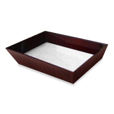Walden Polished Wood Decorative Vanity Tray