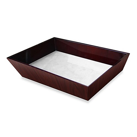 walden polished wood decorative vanity tray bed bath On decorative bathroom tray