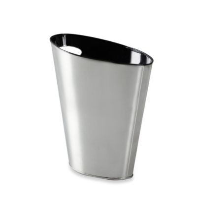 Umbra Skinny Metal Trash Can Black/Nickel