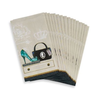 Avanti Fabulous Couture Guest Paper Napkins (Set of 16)