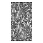 Lace Royal Guest Towel in Silver and Black (Pack of 16)