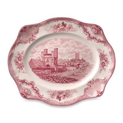 Johnson Brothers Old Britian Castles 11-Inch Platter in Pink