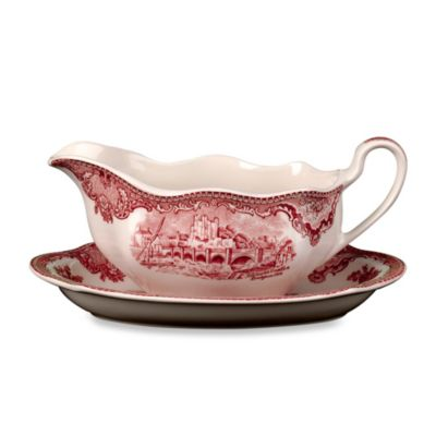 Wedgwood® Johnson Brothers Old Britian Castles Gravy Boat Stand in Pink