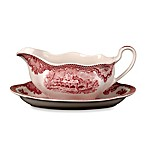 Johnson Brothers Old Britian Castles Gravy Boat Stand in Pink