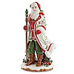 Fitz and Floyd Winter White Holiday Santa Figurine