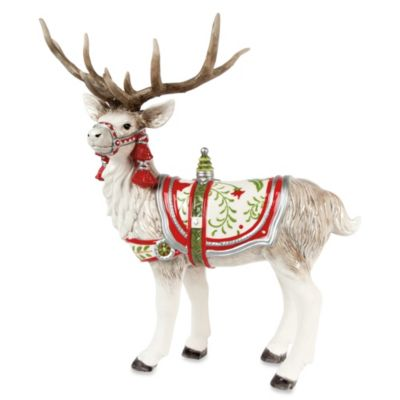 Fitz and Floyd® Winter White Holiday Deer Figurine