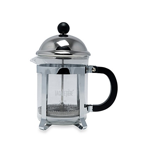 buy la cafetiere optima 4 cup classic chrome french press from bed bath beyond. Black Bedroom Furniture Sets. Home Design Ideas