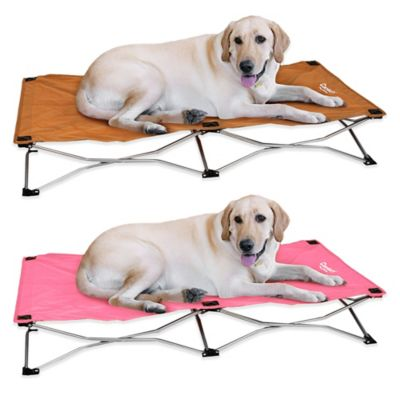 Portable Large Pup Bed in Tan