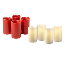 Loft Living Flameless LED Pillar Candles with Timer (Set of 4)