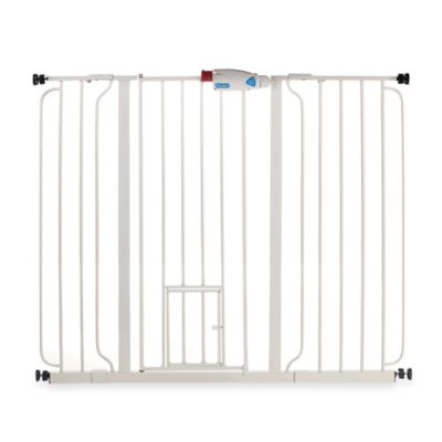 Carlson™ Extra Tall Gate with Pet Door in White