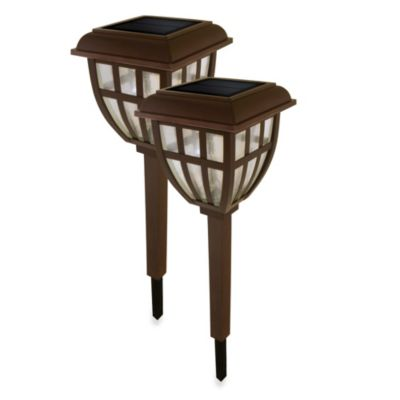 Nature Power Lifetime Series Solar Garden Lantern Lights (Set of 2)