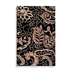 angelo:HOME Hudson Park Floral Paisley Rug in Black/Tan