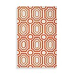 angelo:HOME Hudson Park Geometric Rug in Orange/White