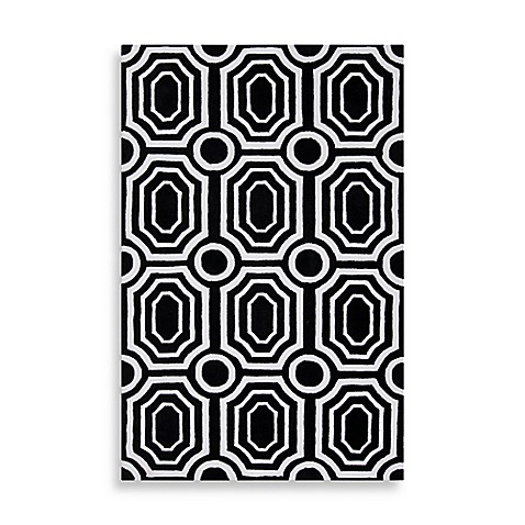 angelo:HOME Hudson Park Geometric Rug in Black/White