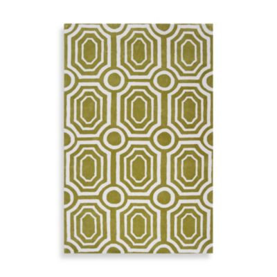angelo:HOME Hudson Park Geometric Rug 2-Foot x 3-Foot in Moss
