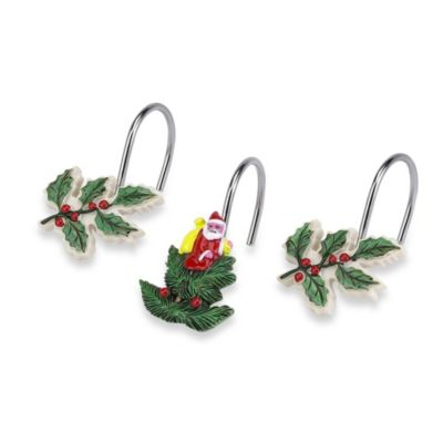Spode® Christmas Tree Shower Curtain Hooks (Set of 12)