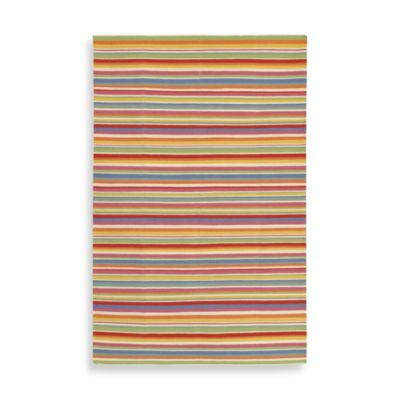 Chaves Rug in Orange/Ivory/Bright Blue