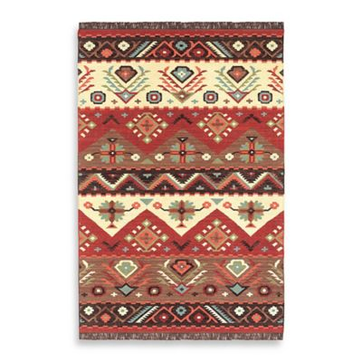 Estarreja 8-Foot x 11-Foot Rug in Red/Brown