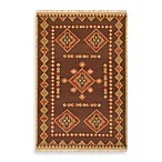 Estremoz Rug in Brown/Tan/Coral