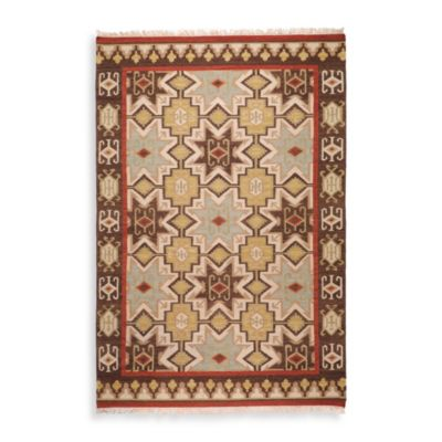 Faro Rug in Chocolate/Beige/Tan/Red