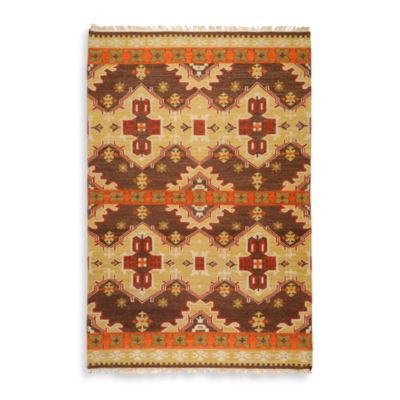 Gandra Rug in Chocolate/Orange/Rust