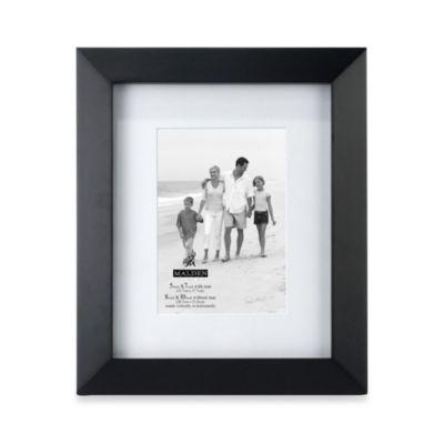 Malden® Berkeley Matted 5-Inch x 7-Inch Picture Frame in Black