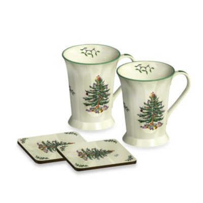 Spode® Christmas Tree Mug and Coaster (Set of 2)