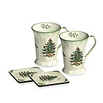 Spode® Christmas Tree 10-Ounce Mug and 4-Inch Coaster (Set of 2)