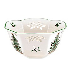 Spode® Christmas Tree Pierced Nut Bowl