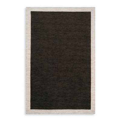 angelo:HOME Madison Square Bordered Runner 2-Foot 6-Inch x 8-Foot in Black