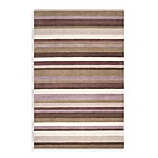 angelo:HOME Madison Square Striped Rug in Brown