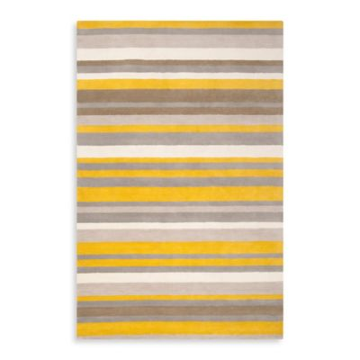 angelo:HOME Madison Square Striped Rug 2-Foot x 3-Foot in Citrine