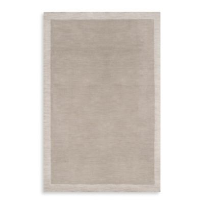 angelo:HOME Madison Square Bordered Rug 5-Foot x 7-Foot 6-Inch in Cobblestone