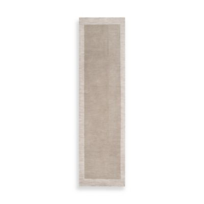 angelo:HOME Madison Square Bordered Runner 2-Foot 6-Inch x 8-Foot in Cobblestone