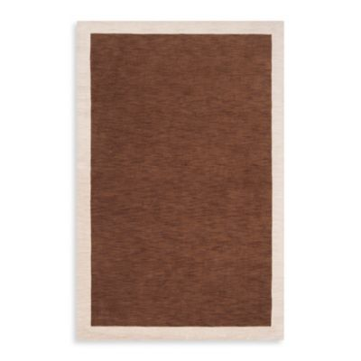 angelo:HOME Madison Square Bordered Rug in Coffee