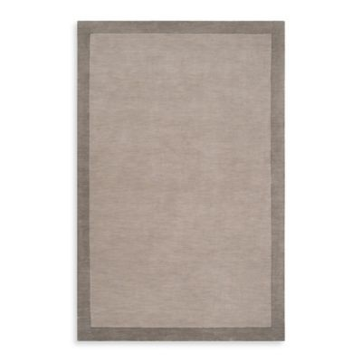 angelo:HOME Madison Square Bordered Rug in Pewter